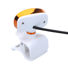 USB 2.0 50.0M HD Webcam Camera Web Cam with MIC for PC Laptop Computer Orange & White
