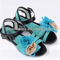 Generous fabric rose flowers for ladies Sandal shoes
