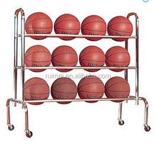 3 Tiers Free-standing Metal Basketball Shelf