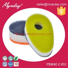 KC-C-052 Innovative cleaning products kitchen clean sponge pot scrubber with hole