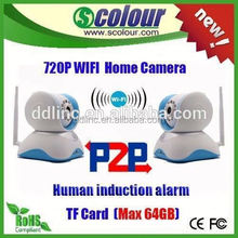 HD Smart home P2P WIFI IP Camera with alarm, wireless network cube camera