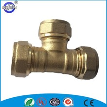 cw614n 15mm compression coupling/elbow pipe plumbing brass fitting