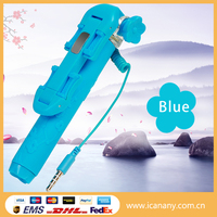 New product 2016 new hot NEW mini wired portable selfie stick monopod with foldable clip