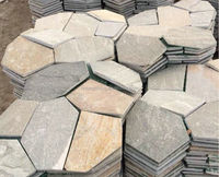 cheap outdoor slate meshed stone mosaic flooring tiles