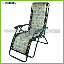 Foldable chaise chair with pillow,outdoor relaxing chair HQ-1012J