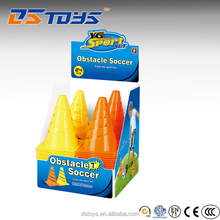 Sport Toy plastic 17cm collapsible traffic cone for soccer obstacle
