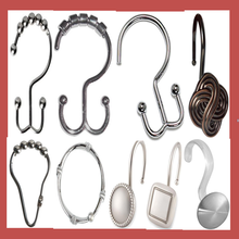 Factory Direct Sale Chrome Shower Curtain Roller Hooks