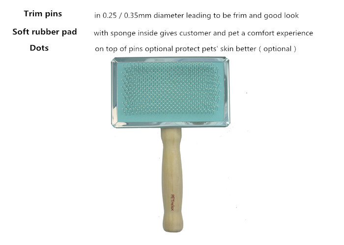(M) PR80032-2 2014 new pet dog product with private label type wood handle brush