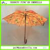Full color printing wooden umbrella fruit umbrella orange umbrella pretty umbrella