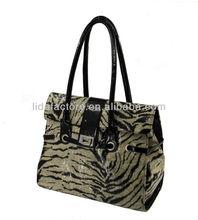 Elegant Patent Zebra Cheap Handbags shopping trolley bag
