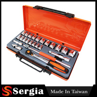 FREE SHIPPING 24 Pcs 1/2 Inch Drive Extension Bar T Bar Universal Joint And Socket Set