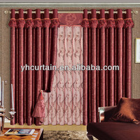 curtains for hotel blackout fabric for curtain red patterned curtains