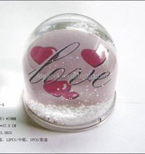 Promotional Photo Frame Love Water Dome, Snow Globe