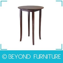 Round Pub Height Oak Dining Table