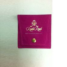 Customized Jewelry Pouches Button Closure