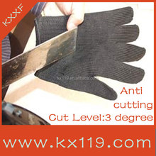 Black cut resist Anti-scratch knife spectra cut resistant gloves
