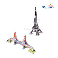 Kids souvenirs craft toys building eiffel tower decoration