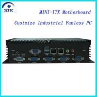 OEM Customize Hard Disk Supported Intel Celeron 1037 Processor Industrial Fanless Mini PC
