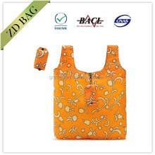 custom printed polyester foldable shopping bag