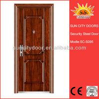 Vented steel door exterior security door