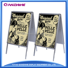Made in China shop,round corner double sided aluminum stand, advertisement stand