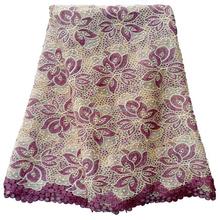 il design del nuovo fornitori cinesi ingrosso guipure chimica George secco cavo di pizzo tessuto per il vestito