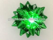 "3.75"" LED star ribbon bow Optical Fiber Gift Lighting Up Star Bows, Christmas Tree Decorative LED Bow, LED Ribbon Bow"