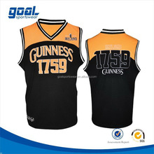 Latest design sports customized basketball league tops