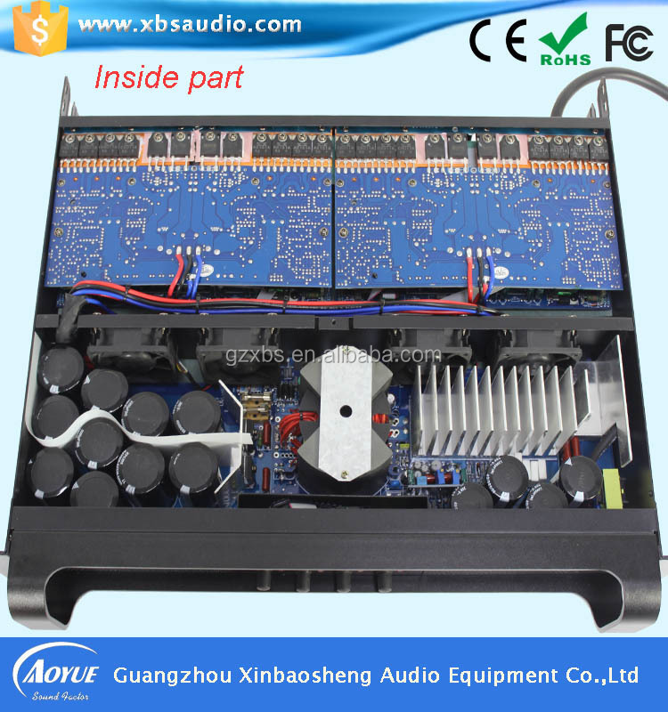 4CH караоке спикер усилитель FP10000Q с голубой усилитель мощности печатной платы