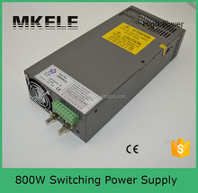 SCN-800-48 mingwei 800w switch power supply smps 800w 48v test transformator mental case cover with pfc function