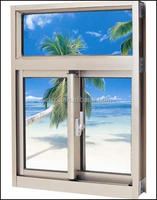 Double glazing Aluminum Sliding Window China supplier,drawings of doors and windows