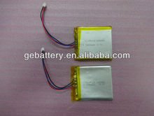2400mah tablet pc battery 3.7v rechargeable prismatic battery GEB606066