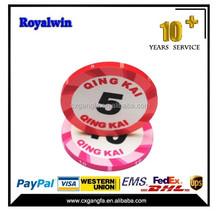 2015 hot sale Modern design Las Vegas customized design Clay Poker Chips