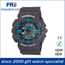 2015 hot sales abs water resisting sports watch with multi time display abs sport watch for young