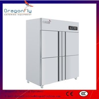 4 Doors Commercial Side by Side Refrigerator Freezer