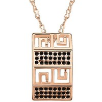 Free Shipping New Arrival Square Organ Shape Austria Crystal Necklace
