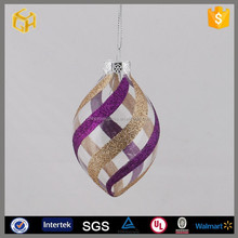 2014 new design colorful glass craft decorations in christmas