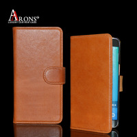 Top grain leather wallet case for samsung galaxy s6 edge plus