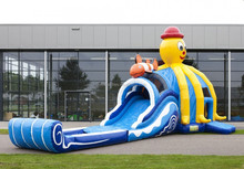 octopus multiplay inflatable super combo slide, inflatable combo, inflatable jumper with slide