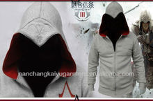 Assassin's Creed 3 Conner Kenway Coat Jacket Hoodie Top Costume F Cos Gift