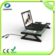 Practical detachable desktop computer shelf with USB hub