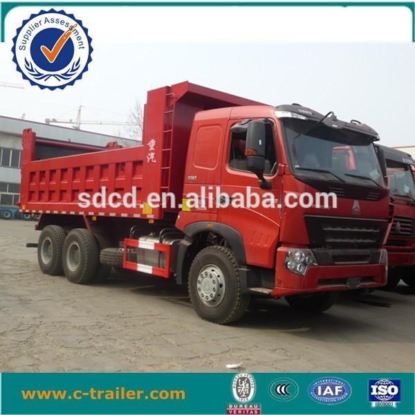 6x4 371hp 21-30ton load china tipper trucks for sale