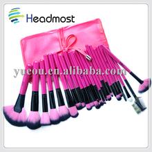 micro brush for eyelash extension 23 pcs animal hair professional cosmetic brush set,animal hair professional cosmetic brush kit