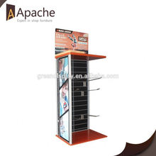 Professional mould design clothing store best selling black wallet display stand