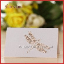 Hot Sale Laser Cut Wedding Invitation Decorations Place Name Cards, Royl Table Cards Dragonfly Shaped Event Rave Party Decor