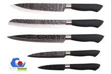 5pcs sharp damascus steel kitchen knife set