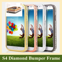 Luxury Bling Bling Rhinestone Diamond Crystal Metal Aluminum Bumper Frame Protective Cases Coque for Samsung galaxy S3 S4 S5