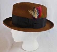 Men Jazz Feather Wool Felt Fedora Hat