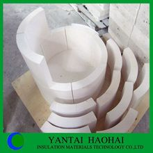 JN series calcium silicate pipe cover perfect sanding A1 level 25-50mm fire rated products first class strength refractory