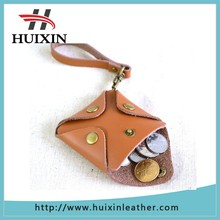 High quality leather coin purse genuine leather coin pocket for mini bag
